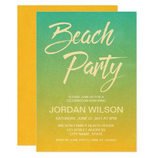 Zitrusfrucht-Geburtstags-Jahrestags-Strand-Party Karte