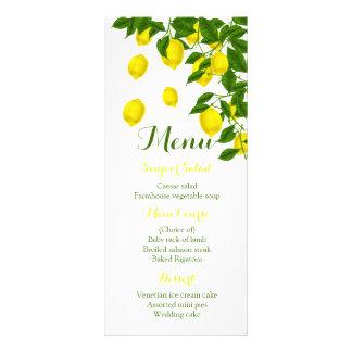 Zitrusfrucht-gelbe Menü-Zitrone u. grünes Werbekarte