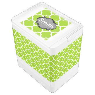 Zitrusfrucht grünes Quatrefoil Kühlbox