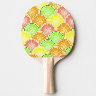 Zitrusfrucht-Kamm-Muschel-Muster Tischtennis Schläger