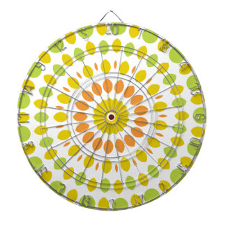 Zitrusfrucht-Mandala Dartscheibe