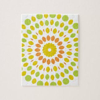 Zitrusfrucht-Mandala Puzzle