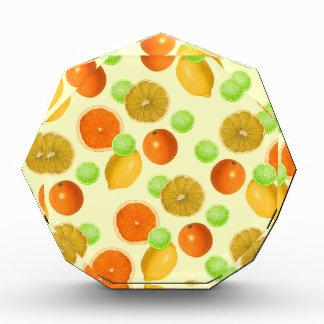 Zitrusfrucht-Pop Acryl Auszeichnung