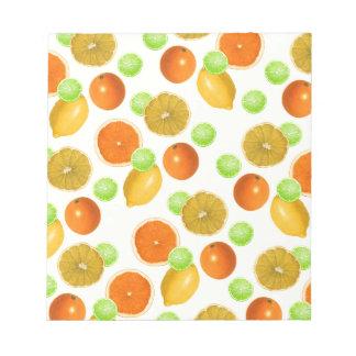 Zitrusfrucht-Pop Notizblock
