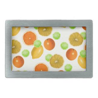 Zitrusfrucht-Pop Rechteckige Gürtelschnalle
