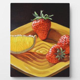 Zitrusfrucht-saftige Erdbeerorange Fotoplatte