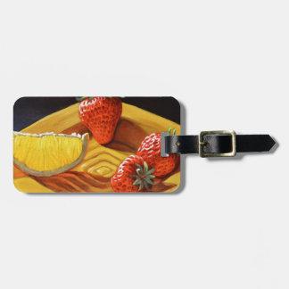 Zitrusfrucht-saftige Erdbeerorange Kofferanhänger