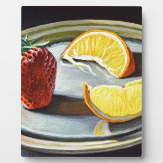 Zitrusfrucht-saftige Erdbeerorangen-Nr. 2 Fotoplatte