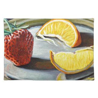 Zitrusfrucht-saftige Erdbeerorangen-Nr. 2 Tischset