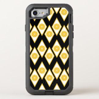 Zitrusfrucht-Scheiben im modernen Diamant-Muster OtterBox Defender iPhone 8/7 Hülle