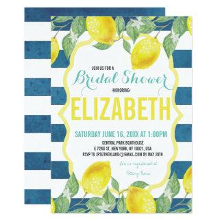 Zitrusfrucht-Themed Brautparty-Einladung Karte