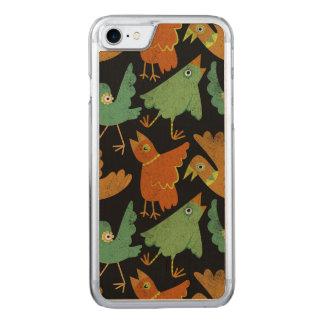 Zitrusfrucht-Vögel Carved iPhone 8/7 Hülle