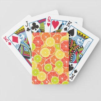 Zitrusfrüchte Bicycle Spielkarten
