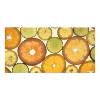 Zitrusfrüchte Photogrußkarten