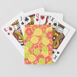 Zitrusfrüchte Spielkarten