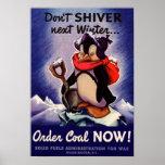 Zittern nicht folgendes Winter Plakat!