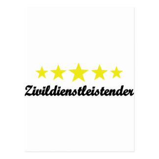 Zivildienstleistender Ikone Postkarte