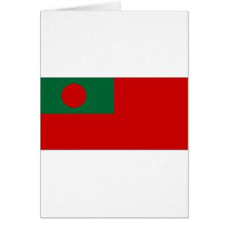 Zivile Fahne-Flagge Bangladeschs Karte