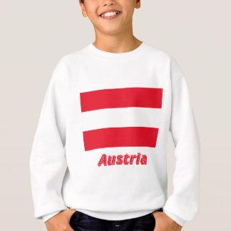 Zivile Flagge Österreichs mit Namen Sweatshirt
