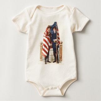 Zivile Krieg US-Flaggen-Gewerkschafts-verbündeter Baby Strampler