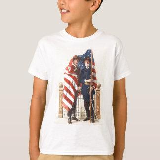 Zivile Krieg US-Flaggen-Gewerkschafts-verbündeter T-Shirt