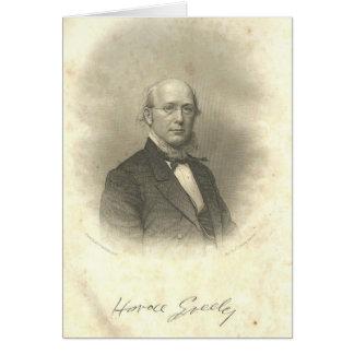 Zivile Kriegs-Ära Horaz Greeley, die Notecard Karte