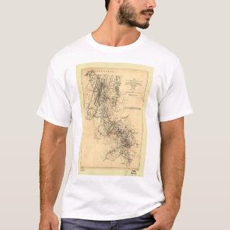 Zivile Kriegs-Atlanta-Kampagnen-Karte am 1. T-Shirt