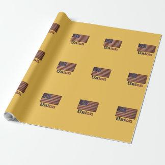 Zivile Kriegs-Flagge Gewerkschafts-Armee USA Geschenkpapier