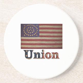 Zivile Kriegs-Flagge Gewerkschafts-Armee USA Getränkeuntersetzer