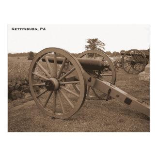 Zivile Kriegs-Kanone, Gettysburg, PA Postkarten