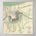 Zivile Kriegs-Karte 1863 New Orleans Plakate