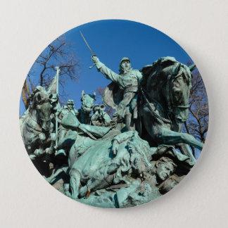 Zivile Kriegs-Statue in Washington DC Runder Button 10,2 Cm