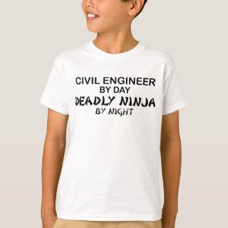 Ziviler Ingenieur tödliches Ninja bis zum Nacht T-Shirt