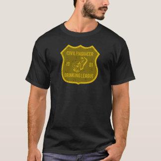 Ziviler Ingenieur-trinkende Liga T-Shirt