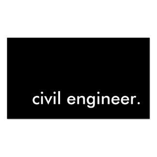 ziviler Ingenieur Visitenkartenvorlage