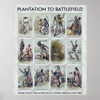 ZIVILER KRIEG: von Plantage zu Schlachtfeld Poster