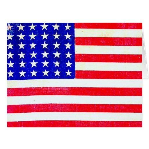 Ziviler Kriegs-amerikanische Flagge 1865 Grußkarten