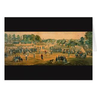Ziviler Kriegs-Baseball 1863 Karte