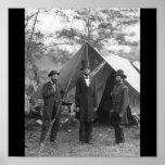 Ziviles Kriegs-Foto circa 1862 Posterdruck