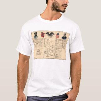 Ziviles Kriegs-Schlachtfeld von Harrisburg-Karte T-Shirt