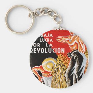 Ziviles ursprüngliches Plakat 1936 Krieges CNT-FAI Schlüsselanhänger