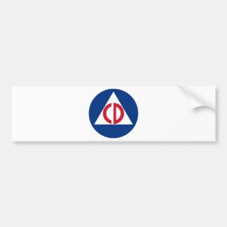 Ziviles Verteidigungs-Logo-Vintages Symbol Autoaufkleber