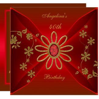 Zizzago elegantes 40. Geburtstags-reiches Karte
