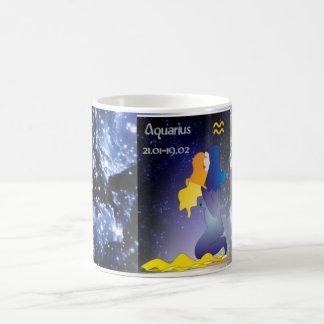 Zodiac mug - aquarius tasse