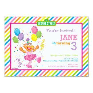 Zoe Striped Geburtstag 12,7 X 17,8 Cm Einladungskarte