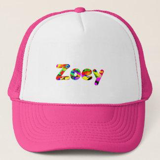 Zoey rosa u. weiße Maschen-Kappe Truckerkappe