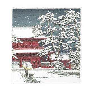 """Zojoji im Schnee"" durch Kawase Hasui 川瀬巴水 Notizblock"
