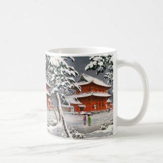 Zojoji Tempel Schnee Tsuchiya Koitsu in der Kaffeetasse