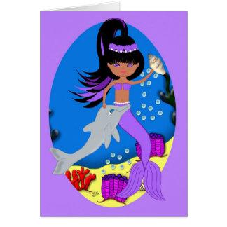 Zola die Meerjungfrau und der Delphin kardieren Karte