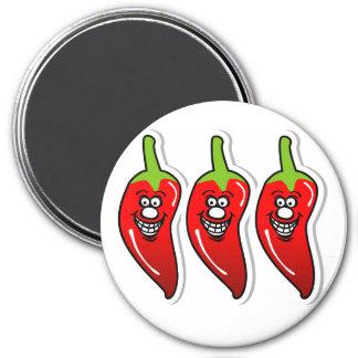 Zoll-runder Magnet des Chili-Lächeln-*3 Runder Magnet 7,6 Cm